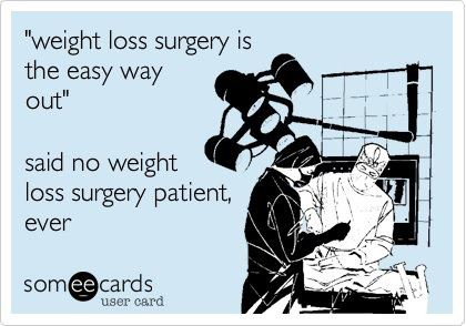 weight loss surgery not easy way out